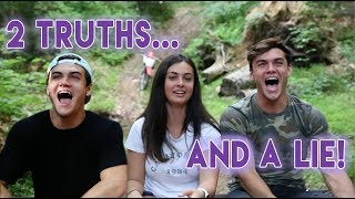 We play 2 truths and a lie with our older sister and yeah soooooooooo yeah...SUBSCRIBE - http://www.youtube.com/user/thedolant...Previous Video - https://www.youtube.com/watch?v=SGDTwVD_IrYCam's IG - https://www.instagram.com/camdol/Ethan's StuffINSTAGRAM - https://instagram.com/ethandolan/TWITTER - https://twitter.com/EthanDolanSNAPCHAT - EthanDolanGrayson's ThingsINSTAGRAM - https://instagram.com/graysondolan/TWITTER - https://twitter.com/GraysonDolanSNAPCHAT - GraysonDolan