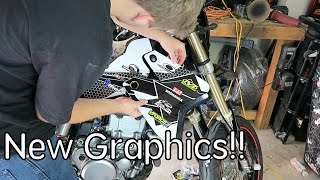 4. How to install graphics on a DRZ400sm!