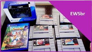 E ai galerinha beleza ? Hoje trago pra vocês aqui minhas ultimas aquisições dentre Super nintendo e finalmente quem diria Playstaton 4 ! Sim peguei um game de PS4 e não foi qualquer um foi a fantástica remasterização do clássico Crash bandicoot !