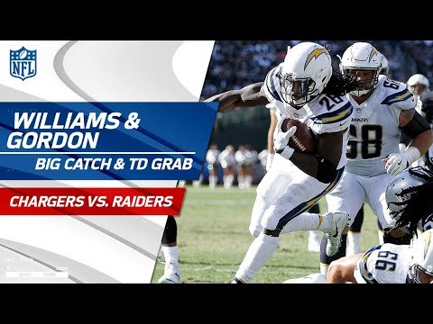Video: Rookie Mike Williams' Huge Grab & Melvin Gordon's Quick TD Catch! | Chargers vs. Raiders | NFL Wk 6