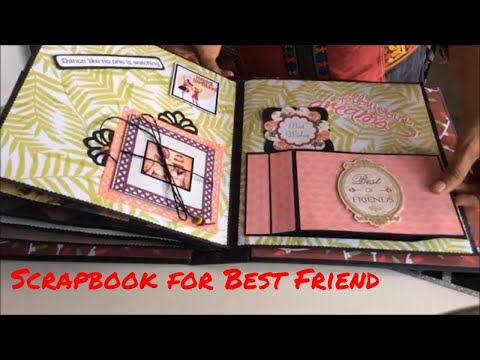 Birthday wishes for best friend - Best gift for best friend/Birthday Scrapbook for best friend/Scrapbook Ideas/Handmade scrapbook 2018
