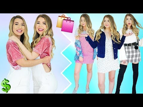TWIN BUYS MY OUTFITS! SHOPPING CHALLENGE 2017 With MAMAMIAMAKEUP!