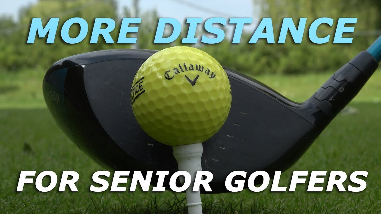 More DRIVER DISTANCE for senior golfers