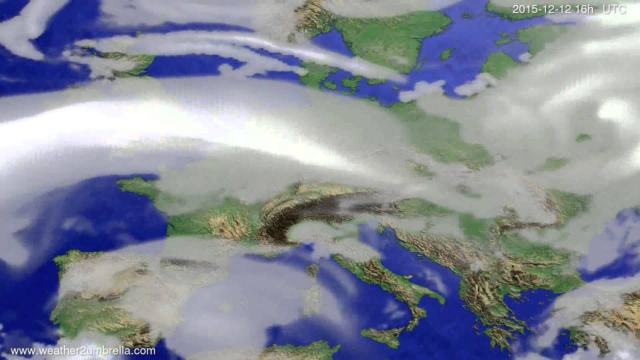 Cloud forecast Europe 2015-12-09