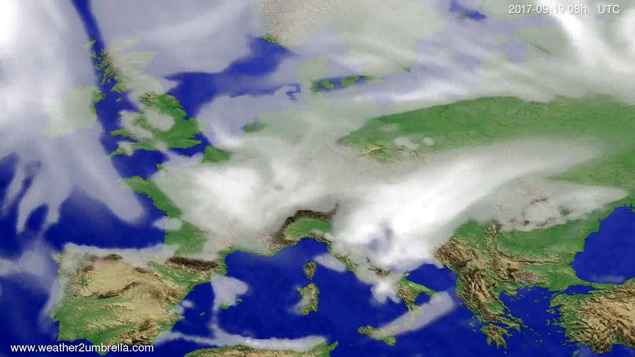 Cloud forecast Europe 2017-09-16