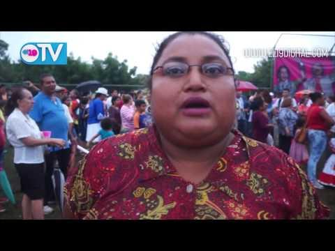 Caminata festiva en respaldo al FSLN en Veracruz Nindirí