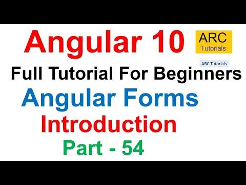 Angular 10 Tutorial #54 - Angular Forms Tutorial | Angular 10 Tutorial For Beginners