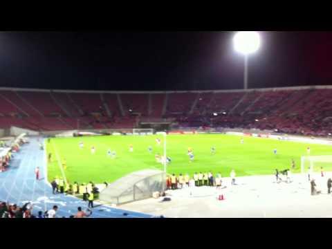Video - La hinchada cantando mientras el equipo pierde 4-0 contra Inter - Los de Abajo - Universidad de Chile - La U - Chile