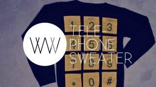 How to Make a Telephone Sweater (2NE1 Fashion: Adidas Jeremy Scott Telephone Sweater) - YouTube