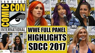 MATTEL WWE Full PANEL HIGHLIGHTS SDCC 2017 ! Sasha Banks, Bayley, Becky Lynch, Charlotte Flair
