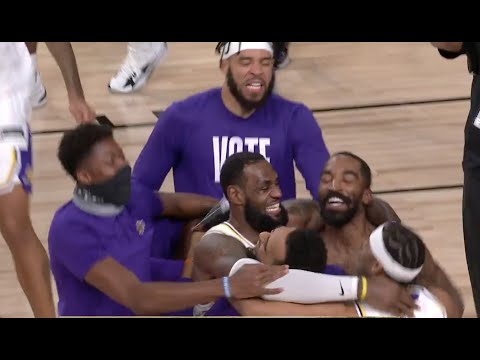 Lakers Celebrate Their 2020 NBA Championship | Final Moments Of Game 6
