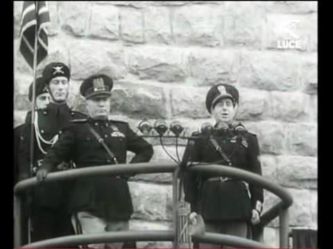 Benito Mussolini inaugura Carbonia il 18 Dicembre 1938