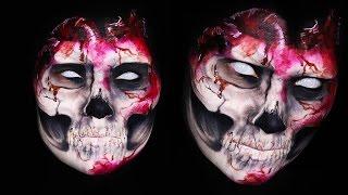 Evil Skull Heart Makeup Tutorial by Madeyewlook
