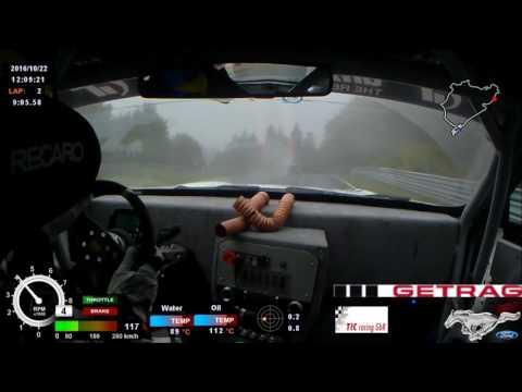 TIC-racing Getrag Mustang GT onboard start lap VLN#10 2016 (видео)