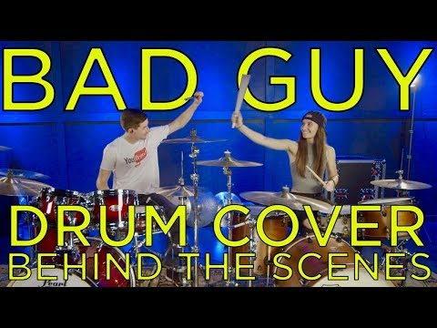 Bad Guy - Drum Cover & Behind The Scenes ft. Kristina Schiano