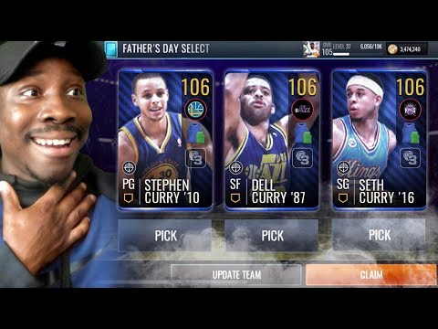 106 OVR CURRY FAMILY IN FATHER'S DAY PACK OPENING! NBA Live Mobile 19 Season 3 Ep. 113