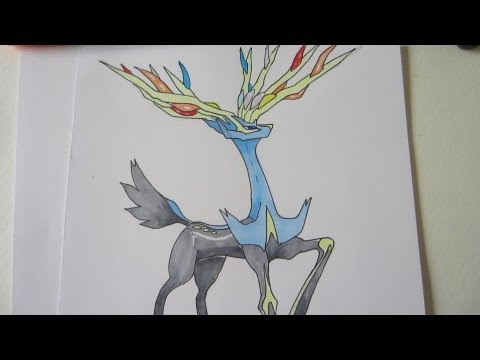 how to draw yveltal ex step by step
