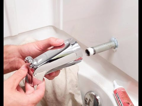 How to Replace a Bathtub Spout   Home Plumbing Repair Video Series