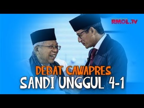 Debat Cawapres, Sandi Unggul 4-1