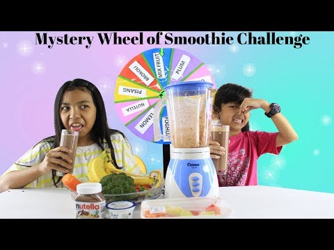 MYSTERY WHEEL OF SMOOTHIE CHALLENGE ♥ Funny Challenge Video  for kids