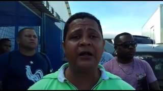 José Hamilton, reperesentando a categoria de viagilantes durante manifestação realizada na manhã desta segunda (17) pelo...