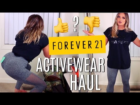 FOREVER 21 ACTIVEWEAR HAUL & FIRST IMPRESSIONS! HIT OR MISS?  | Casey Holmes