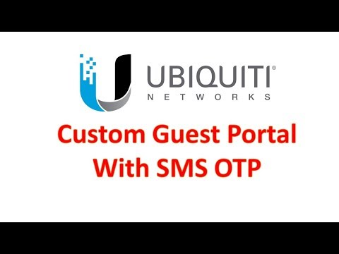 ubiquiti unifi guest portal with sms integration (into cloud key)
