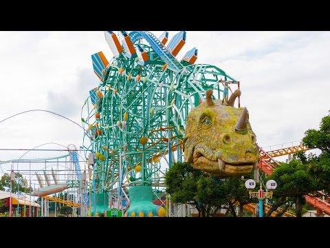 Gao Dinosaur Themed Roller Coaster POV 60 FPS Mitsui Greenland Japan