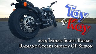 7. 2019 Indian Scout Bobber Radiant Cycles Shorty GP Slipon Exhaust Install