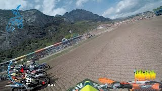 Watch Antonio Cairoli first Moto from Round 5 of the 2017 FIM World Motocross championship in Italy! Shot 100% on the HERO5® camera from http://GoPro.com. Ch...