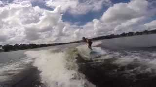 Wake surfing in Florida on an Erie Wake board!