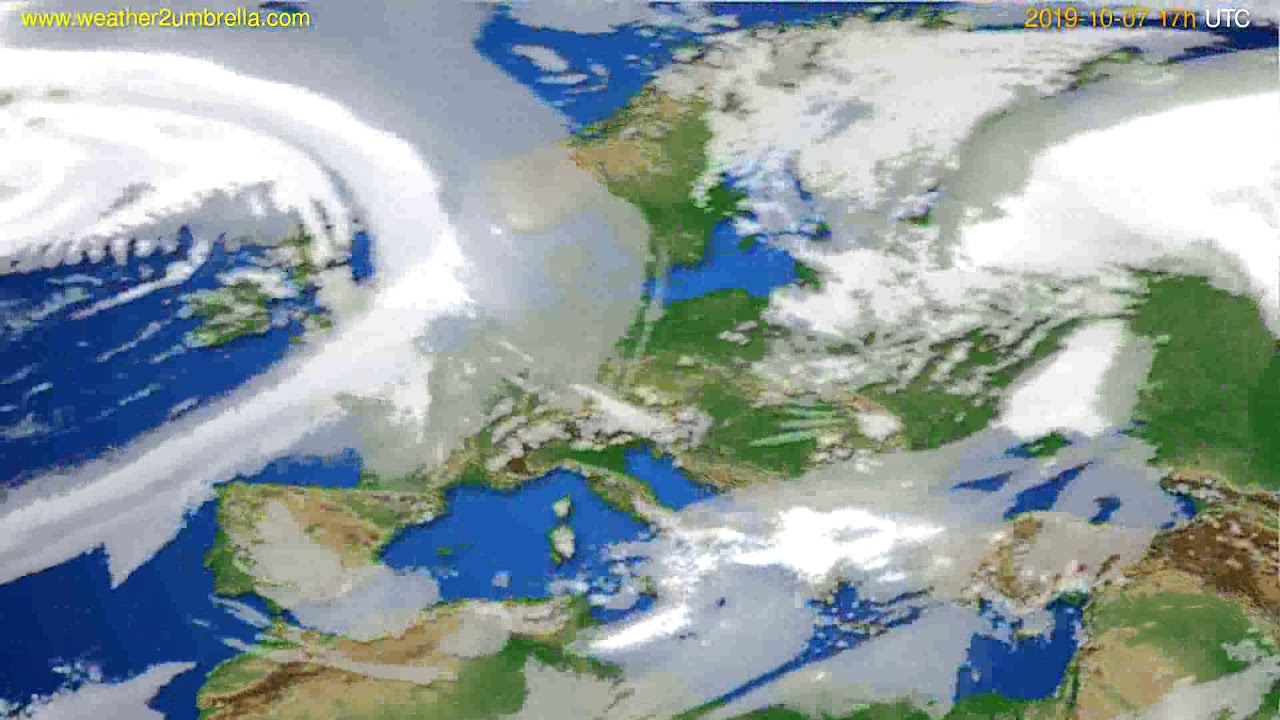 Cloud forecast Europe // modelrun: 00h UTC 2019-10-06