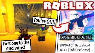 TOFUU BET ME HIS NEW ROBLOX GAME... but only if I BEAT him in THIS game!! (Roblox)