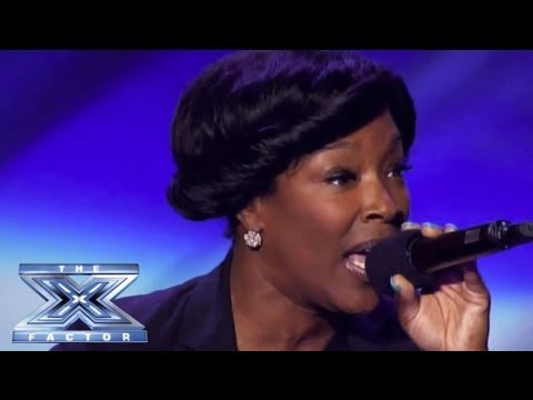 singer - Denise is used to singing for subway riders, not a 4000+ crowd and a panel of superstar judges! Simon asks her to sing Whitney Houston's
