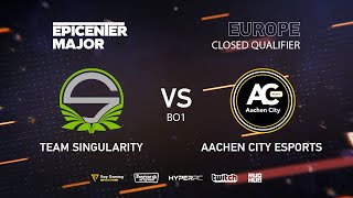 Aachen City Esports vs Singularity, EPICENTER Major 2019 EU Closed Quals , bo1 [Mila]