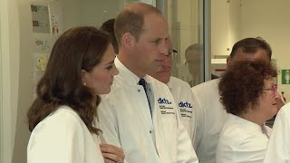 Prince William and Catherine, Duchess of Cambridge, visited the German Cancer Research Centre in Heidelberg  to meet researchers working on stem cell research on the penultimate day of their tour of Poland and Germany.