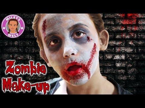 ZOMBIE MAKEUP für MILEY - Halloween Special tutorial Kinderschminken | Mileys Welt (видео)