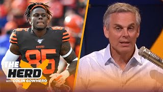 Cam won't elevate Pats like Moss did, Colin doesn't blame Njoku for trade request | NFL | THE HERD by Colin Cowherd