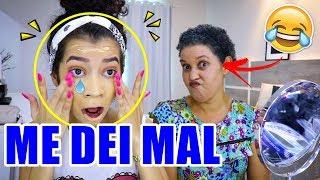 DESAFIO DA ROLETA MISTERIOSA DE MAQUIAGEM COM MINHA MÃE