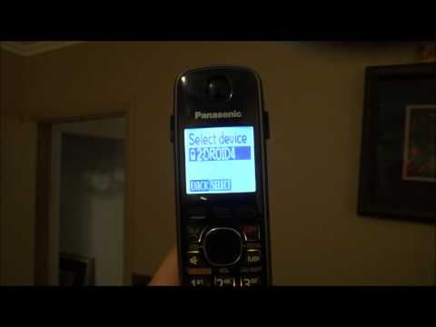 Delete or Remove a Paired Cell Phone from Panasonic KX-TG Series Link 2 Cell Phones