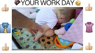 SUBSCRIBE TO Baby Clips Daily! http://bit.ly/29uj1aq Babies can relate to how you are feeling every day at work. Watch this ...