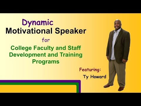 College Speakers - http://www.dynamiccollegespeaker.com Untie the Knots(R): Improving Habits, Choices, People, Relationships, Performance, and Results - Featuring - Ty Howard. ...