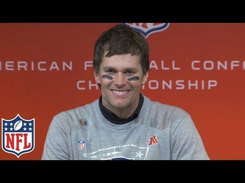 Video: Tom Brady's AFC Championship Postgame Presser,