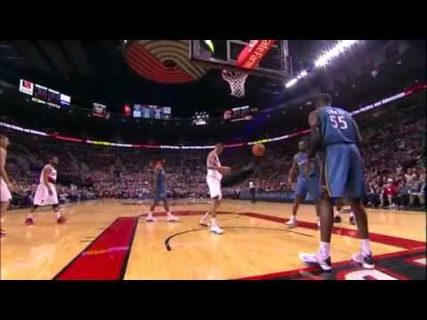 Nicolas Batum to Chris Johnson dunk against Wizards