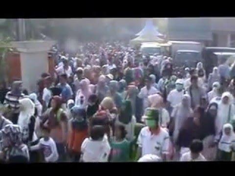 Suasana Jalan Sehat Muharram Fair 1437 Hijriah Keluarga Besar LPI Sabilal Muhtadin