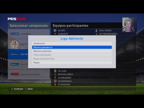 Video pes 2016 modo entrenador partido liga bbva 2 division girona-llagostera jornada 5