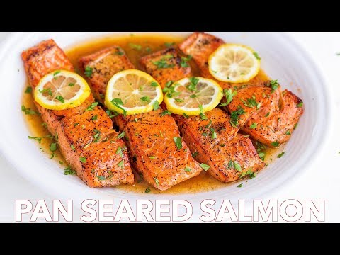 Easy Pan Seared Salmon Recipe  With Lemon Butter