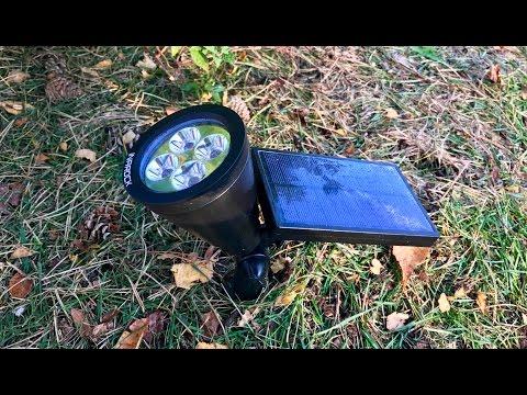 InaRock 2-in-1 Solar Powered LED Outdoor Garden Spotlight Landscape Light Track Lighting review