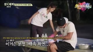Taecyeon awkwardly to the park shin hye |