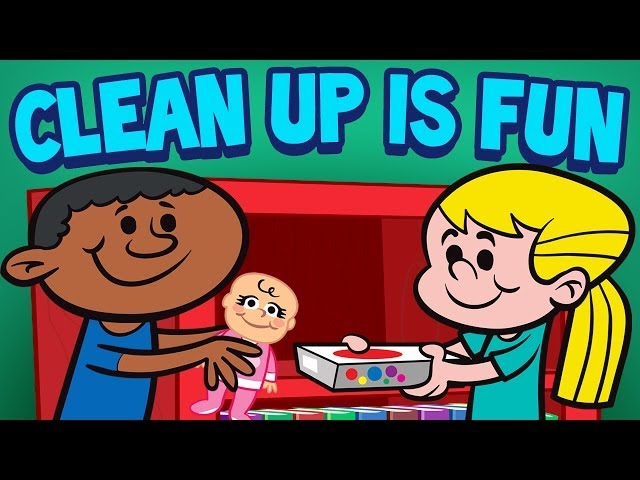 Clean Up Is Fun Childrens Cleaning Song Kids Songs By The